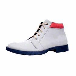 Vithariya Mens Leather White Boots, Size: 6-12