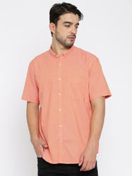 Orange Half Sleeve Shirts For Men