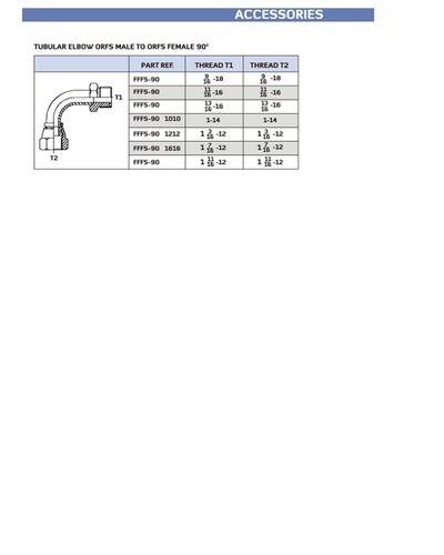 Tubular Elbow ORFS Male To ORFS Female 90 - Hydro Lines India ... e05386e6b