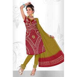 Bandhani Red Print Suit