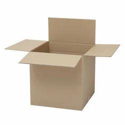 Cardboard Brown Corrugated Shipping Carton Box, Box Capacity: 6-10 Kg