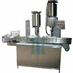 Injectable Liquid Vial Filling And Stoppering Machine