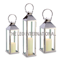 Stainless Steel Candle Lantern Set of 3