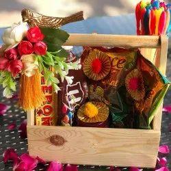 MDF Natural Decorative Wedding Gift Hamper Baskets
