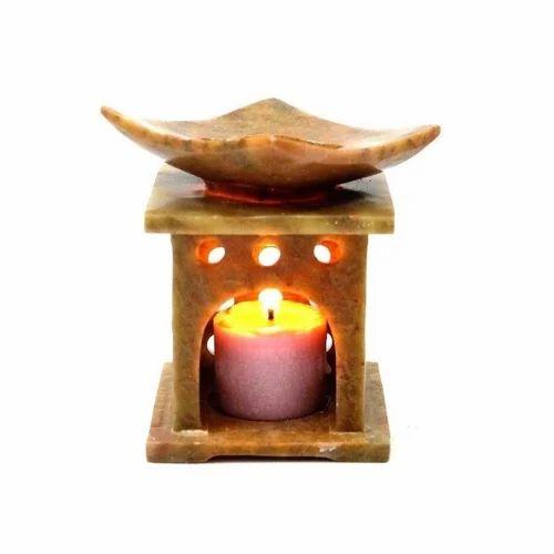 Jagdamba Marble Handicraft. Natural Soapstone Soapstone Aroma Lamp, Packaging Type: N / A