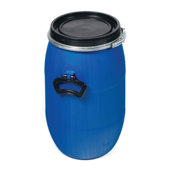 Blue Round Fibre Drums, Capacity: 70L