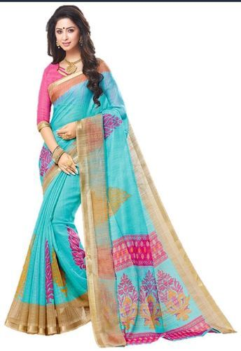 b0c7cf637a0 JD Enterprise Multi Color Jari Border (art Silk) Saree