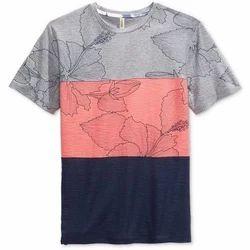 Mens Nylon Printed T Shirt, Size: S-XXL