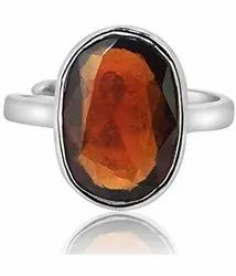 Hessonite Gomed Gemstone Ring