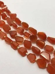 Carnelian Faceted Nuggets, Size: 13x16,11x15 Mm