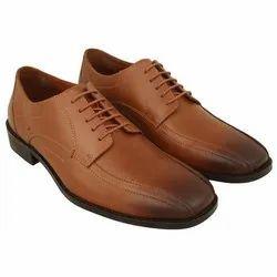 Lace Up Formal Mens Designer Brown Leather Shoes, Size: 6-10