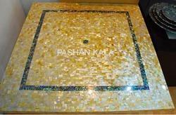 Square Mother Of Pearl Table