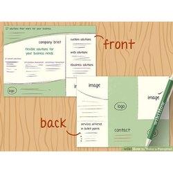 Green And White Printed Paper Pamphlet