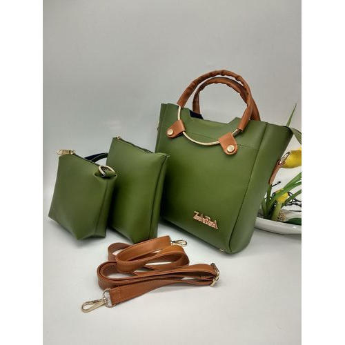 256db0a8d036 Green Foam Leather Fashion Ladies Hand Bag Set, Rs 400 /piece | ID ...