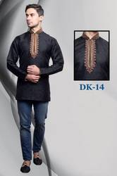 Exclusive Embroidered Short Kurta For Men