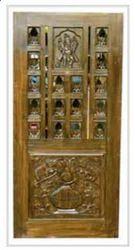 Teak Wood Pooja Room Doors
