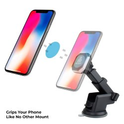 Autofy Universal Magnetic Head Car Dashboard Mobile Holder Cradle With Suction Mount For All Cars