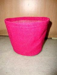 Dyed Jute Basket