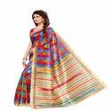 Fancy Printed Bhagalpuri Silk Saree