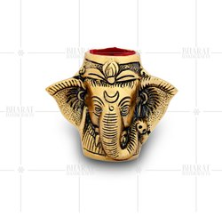Gold Plated Ganesh Pen Stand