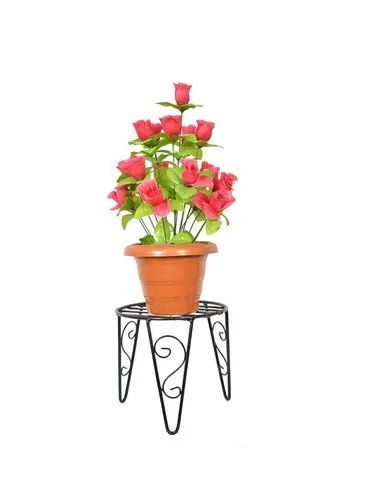 8X4 Inch Wrought Iron Flower Stand, For Single Pot