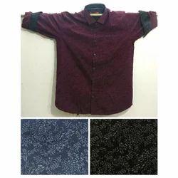 Mens Cotton Printed Casual Shirt, Size: M-XXL