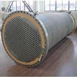 Titanium Tube Heat Exchanger, Power : 100 W, Inlet Temperature : 75 deg C