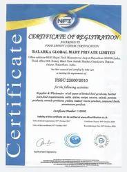 22000 :2010 FSSC Certification Services, Pan India