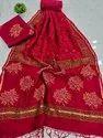 Bagru Hand Block Printed Chanderi Dress Material