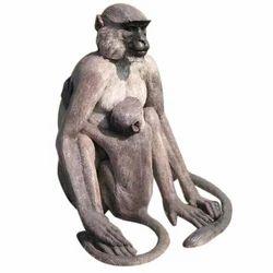 Brown, Grey FRP Monkey Statue, Size/Dimension: 4