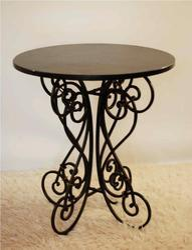 Black Decorative Wrought Iron Table