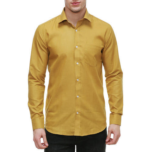 52e9b28b Men Cotton Mustard Color Shirts, Rs 549 /piece, Nimegh Enterprises ...