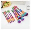 Mermaid Makeup Brush Set Of 10 Pc