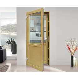UPVC Twin Sash Door, Thickness Of Glass:5 Mm To 24 Mm