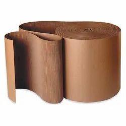 Plain Brown Kraft Paper Corrugated Roll, GSM: 100