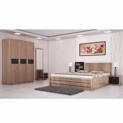 Modern Wooden Double Bed, For Anywhere, Warranty: 3 Year