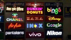 Acrylic LED Display Signage for Advertising, Shape: Rectangle