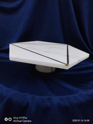 Marble and Brass Cake Tray