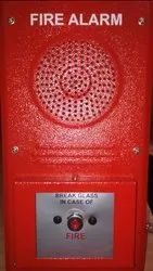 M S Body Red Manual fire alarm system, For Industrial, 95 Db