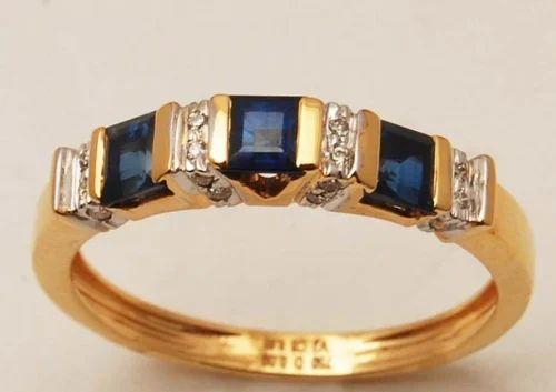 Valentine\'s Jewellery Unisex Gemstone and Diamond Band Ring
