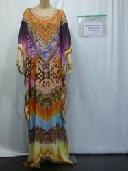 Digital Printed Kaftan With Embellishment