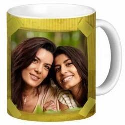 Imported White Photo Mug, Size: 11oz, For Gifting