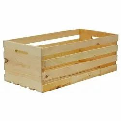 Open Plain Pinewood Shipping Crate