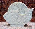 Soapstone Tea Coaster Set Animal Design Carved