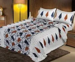 Leaf Print Bedsheet for Double Bed