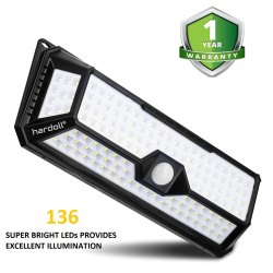 136 LED Outdoor Solar Light with Motion Sensor