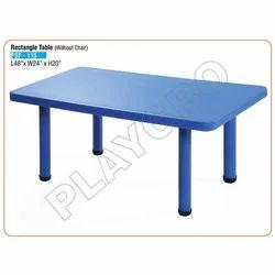 Blue Rectangular Kids Plastic Table