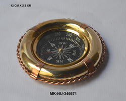Shiny MKI Brass & Copperifebuoy Compass, Packaging Type: Box