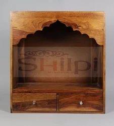 Shilpi Wooden Temple/Pooja Mandir for Home & Office Decor/Home Mandir Wall Mount Sheesham Wood