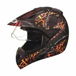 Studds Motocross D1 Decor With Visor 600 MM Off Road Full Face Helmet